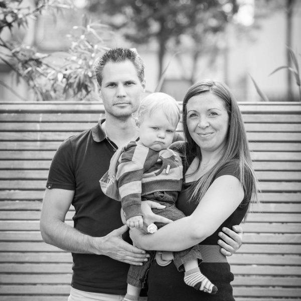Maxence et ses parents - Photographe famille Nanterre