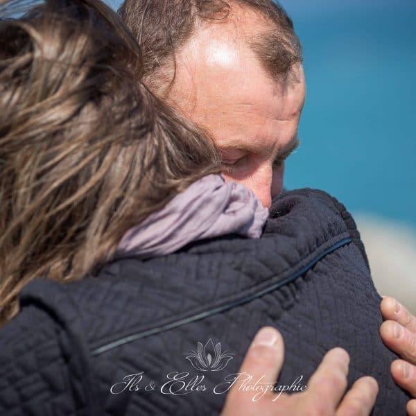 séance photo famille à la mer
