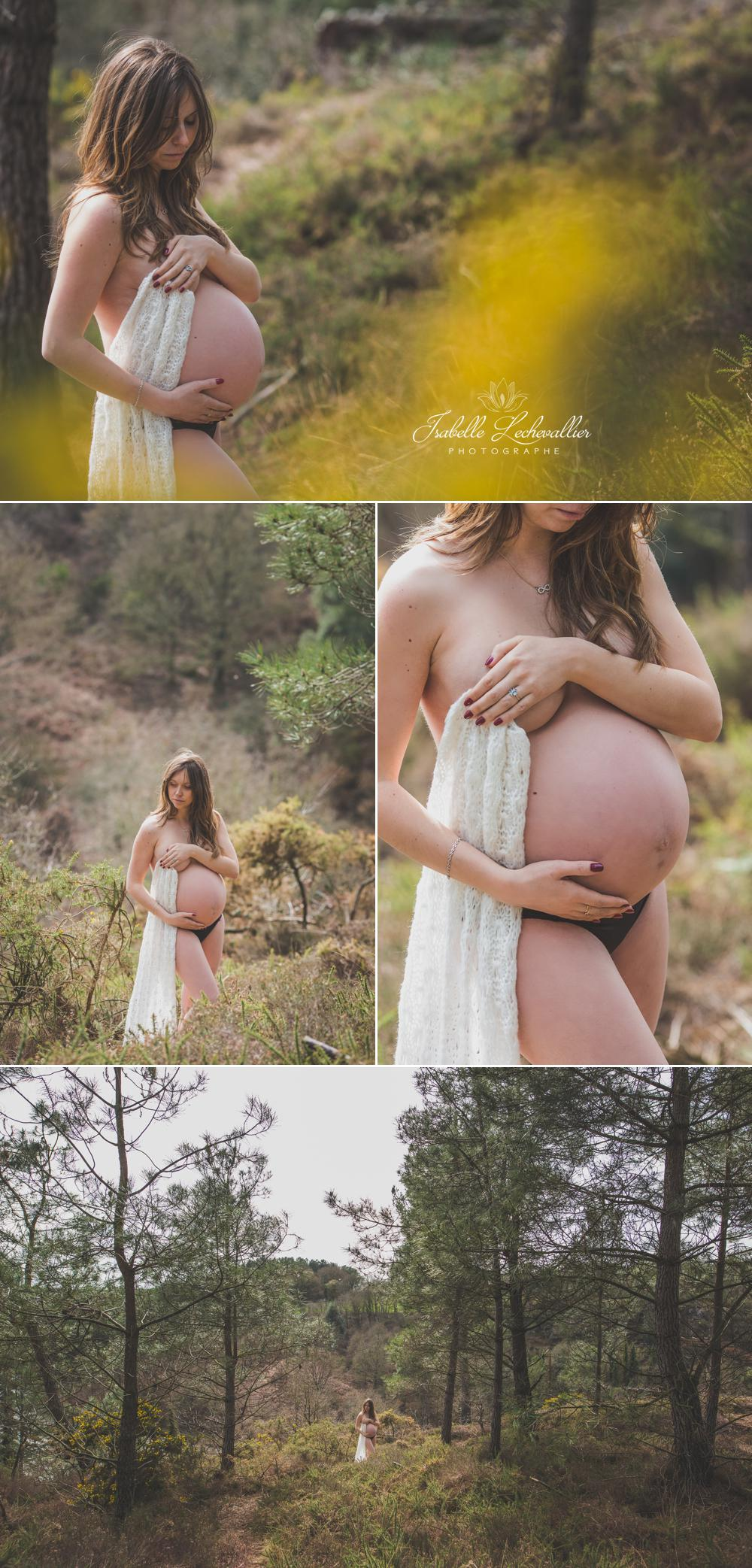 Séance maternité lifestyle à Brocéliande