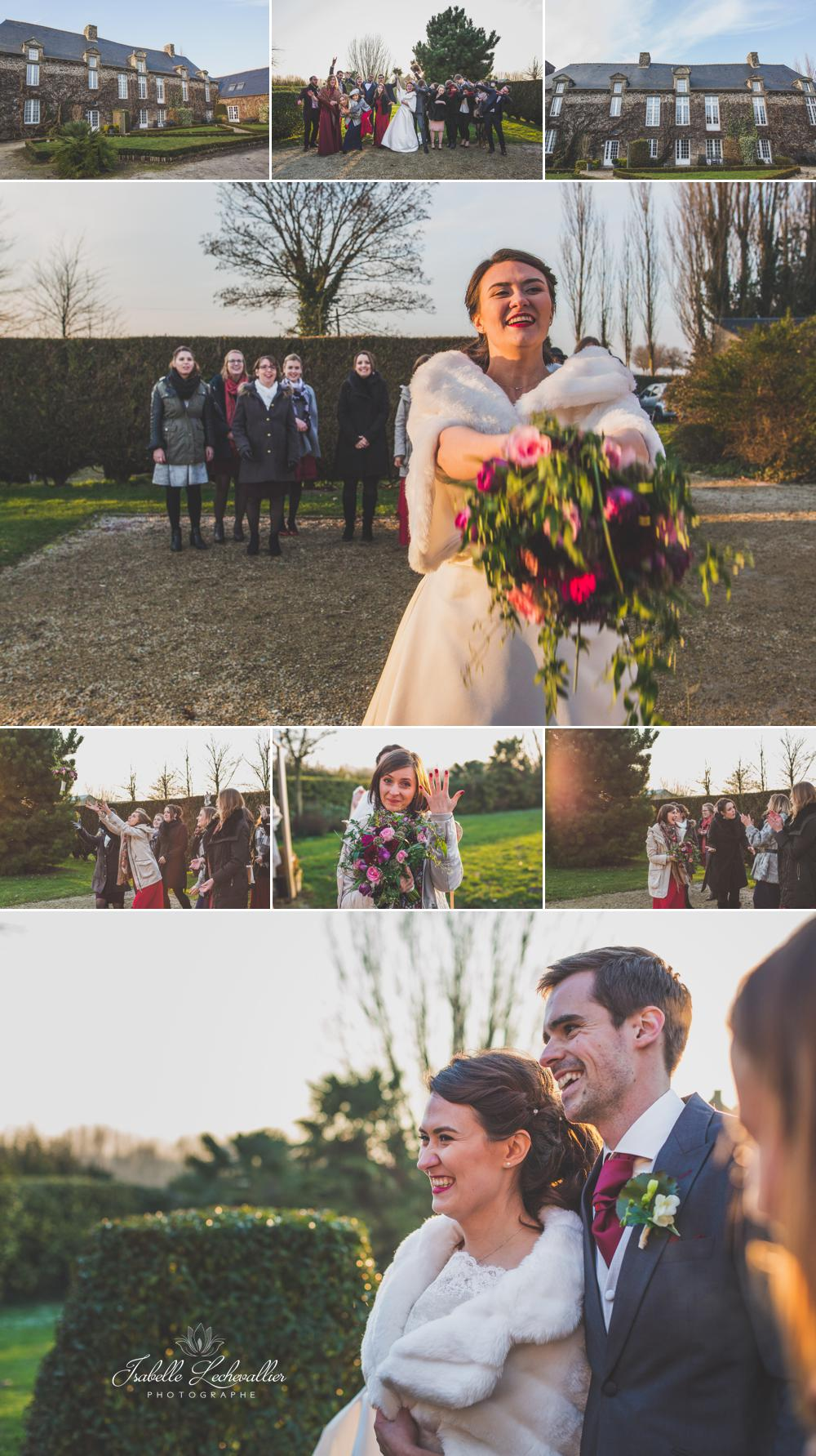 Mariage hivernal au Manoir de la Bégaudière
