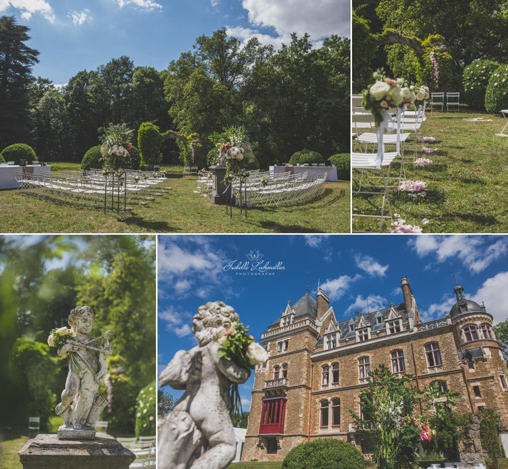 Mariage romantique au château de Méridon