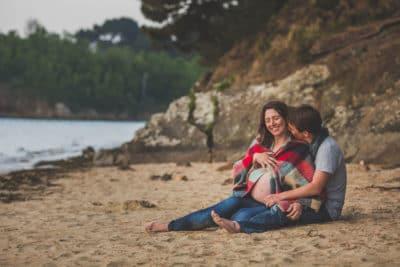 photos de grossesse à la plage