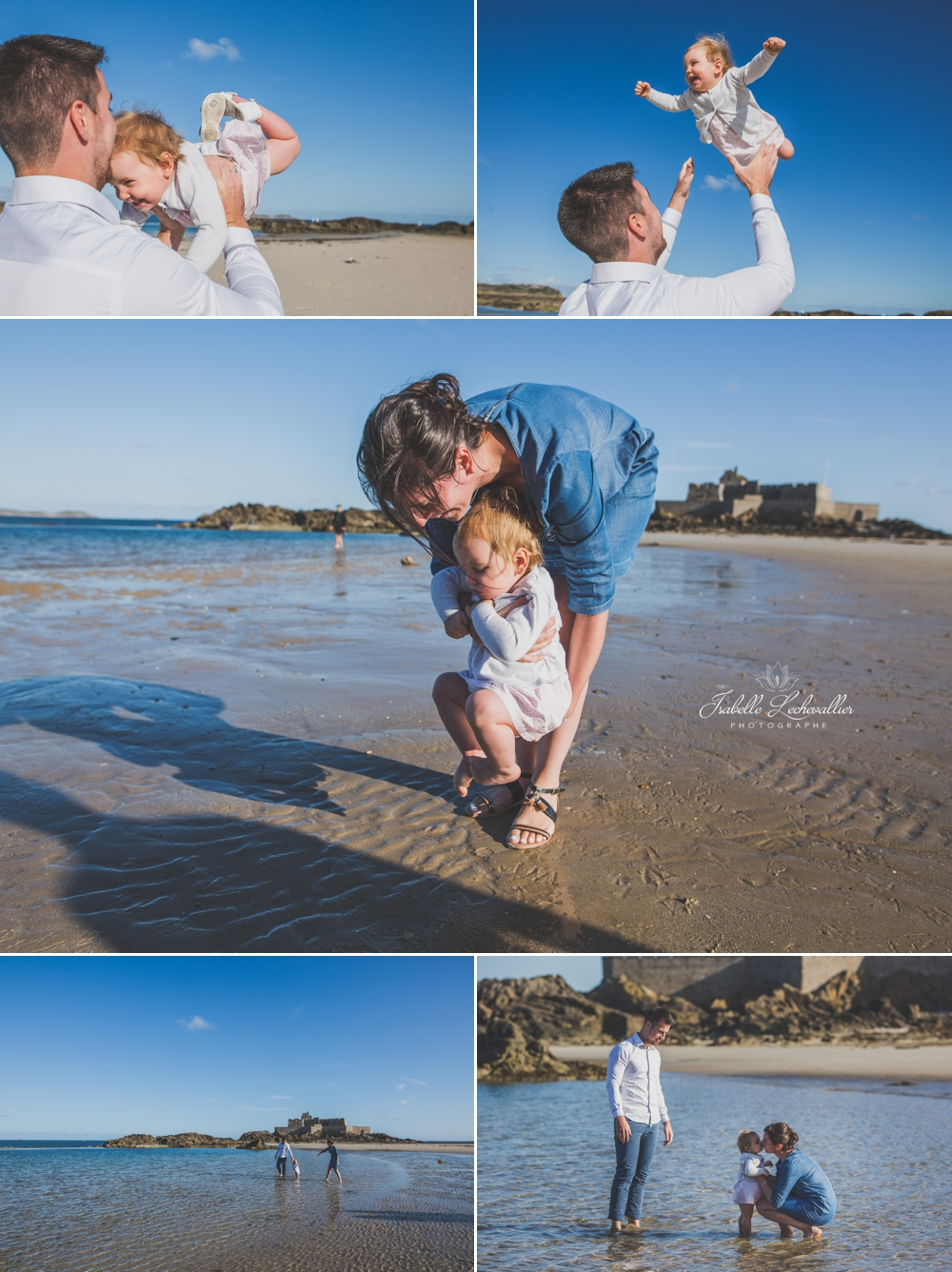 Reportage photo en famille à la plage