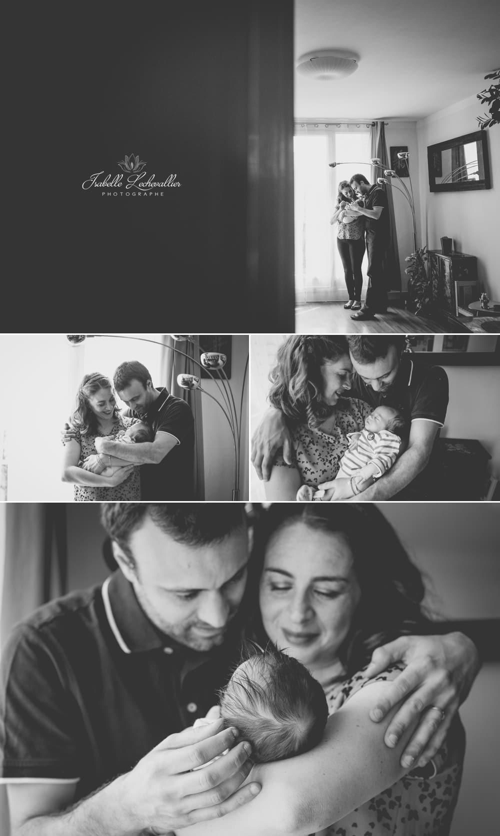 Des photos en famille à la maison