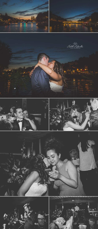 Mariage à Paris sur une péniche