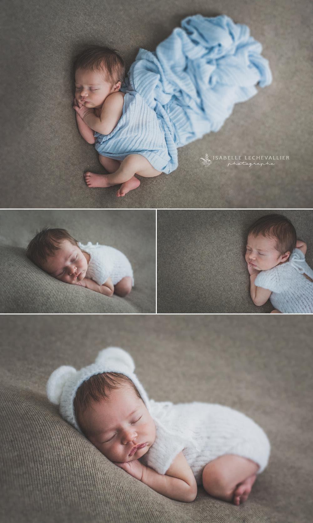 Un bébé trop mignon au studio