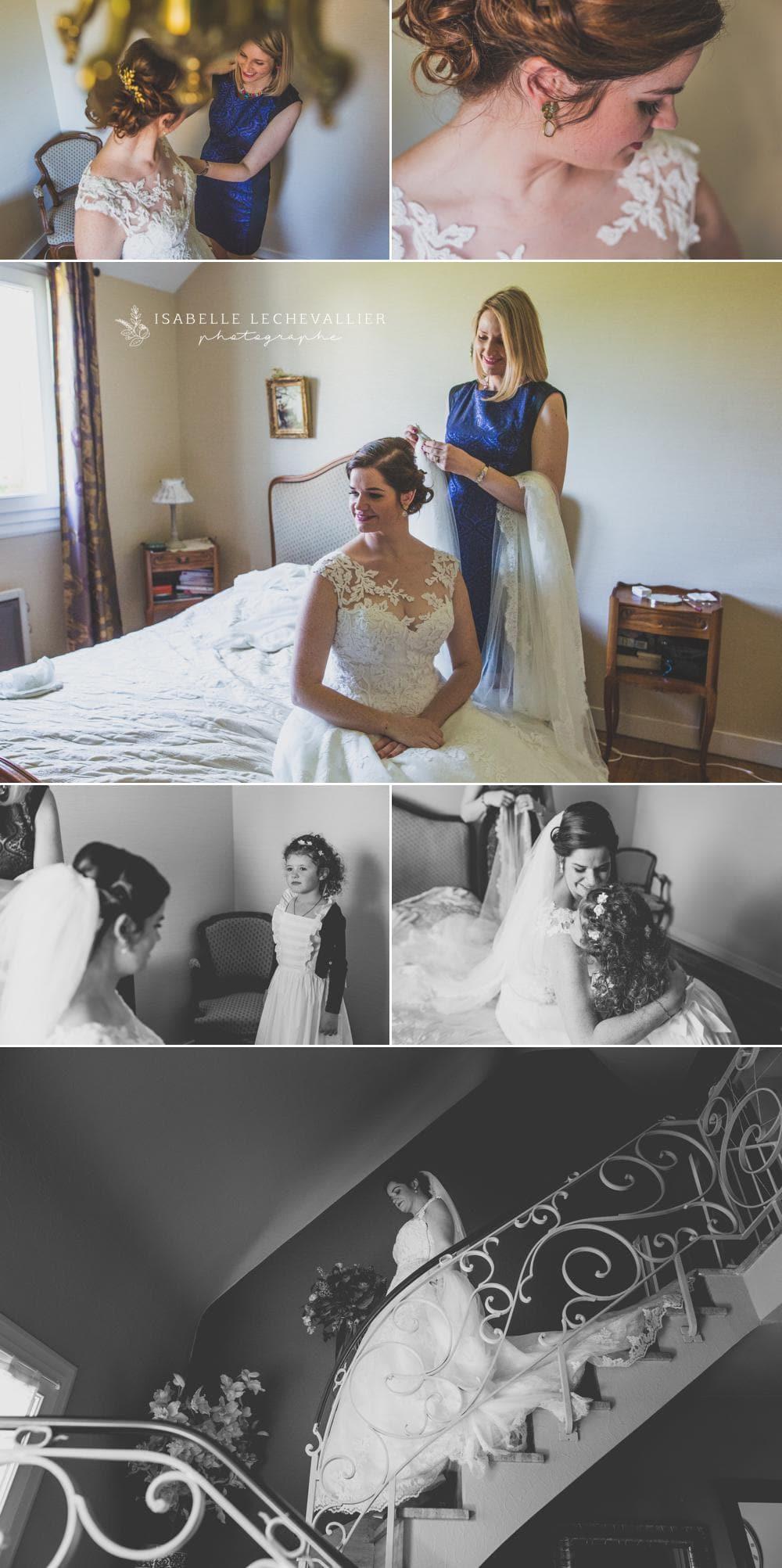 Préparatifs de mariage dans la maison familiale