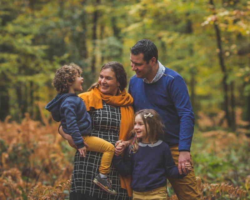 Séance photo famille automnale