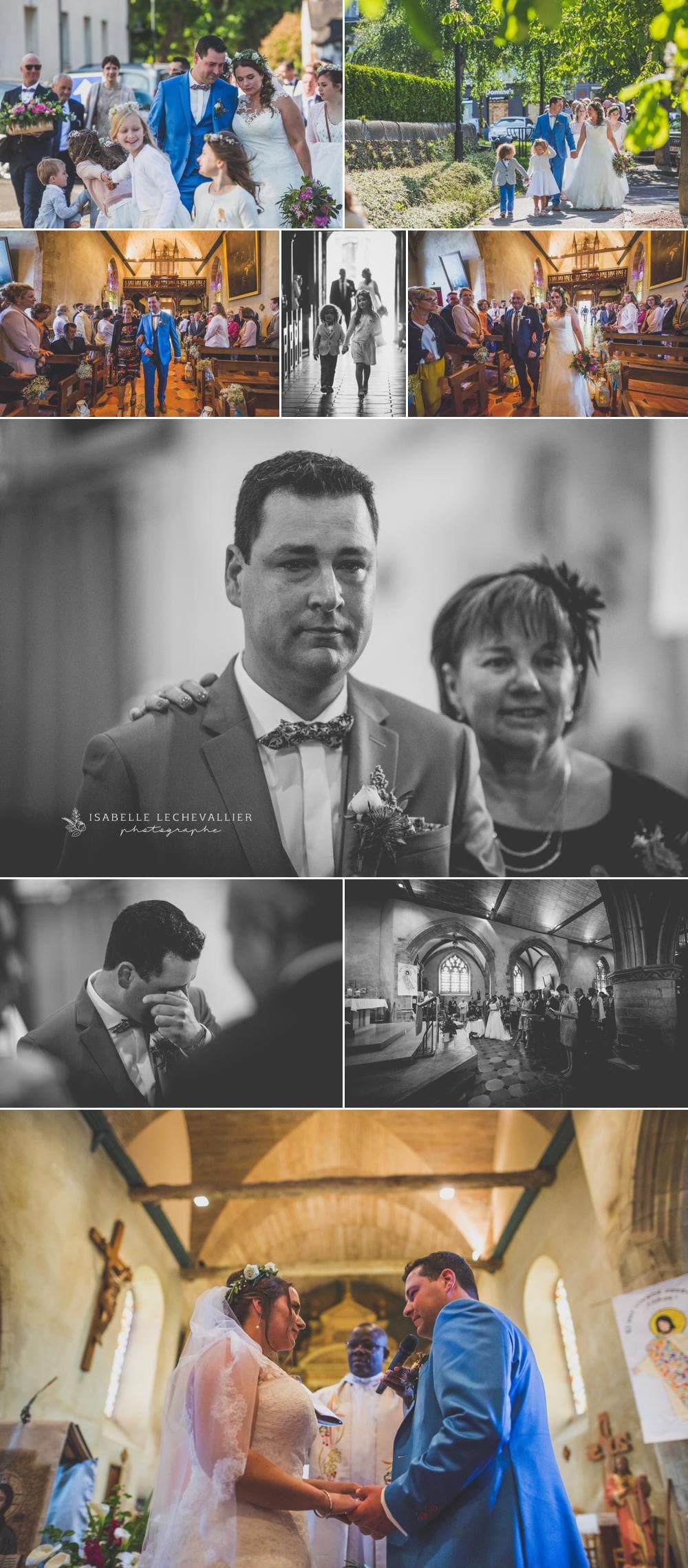 Mariage à l'église de Pacé