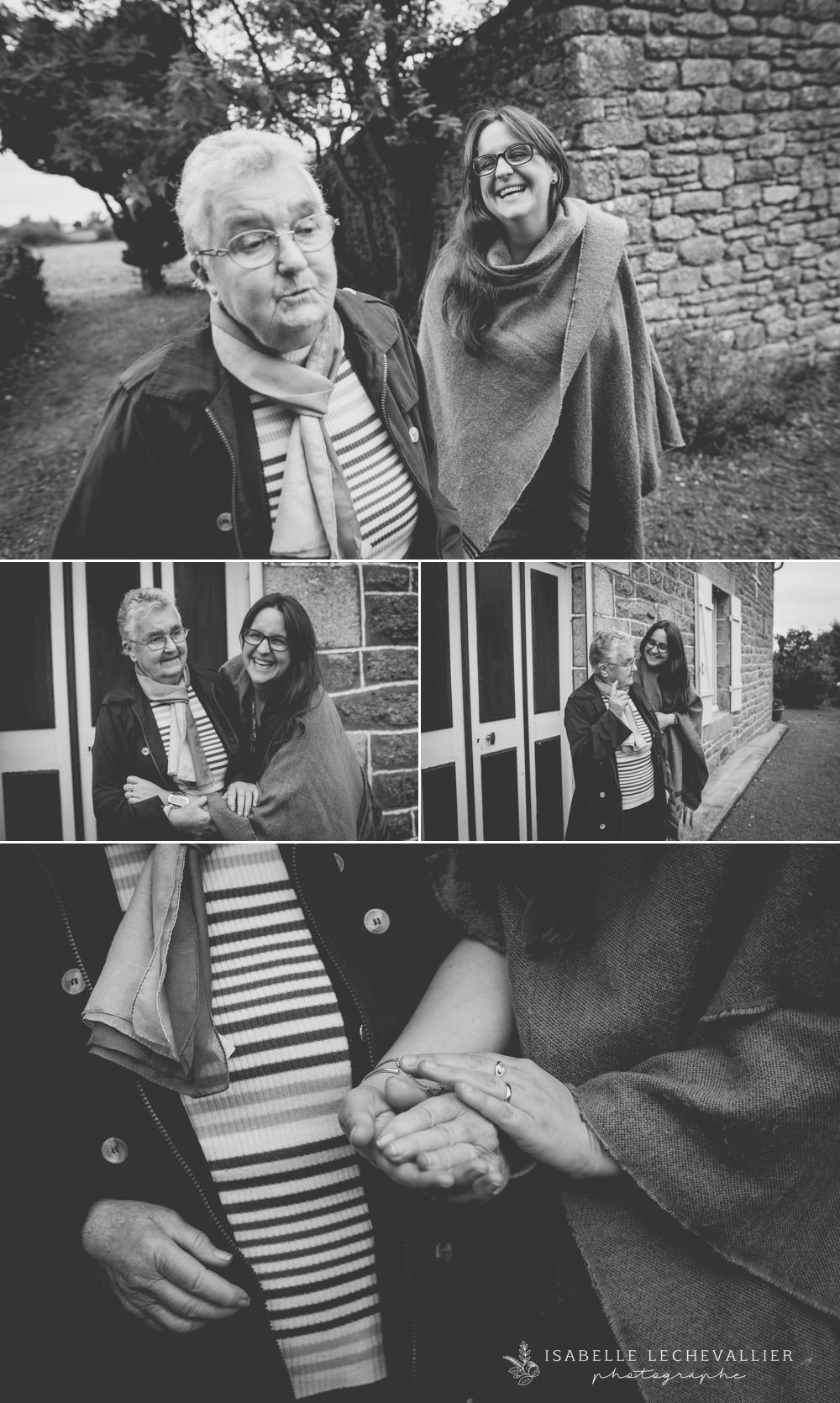 Souvenirs photos avec sa grand-mère