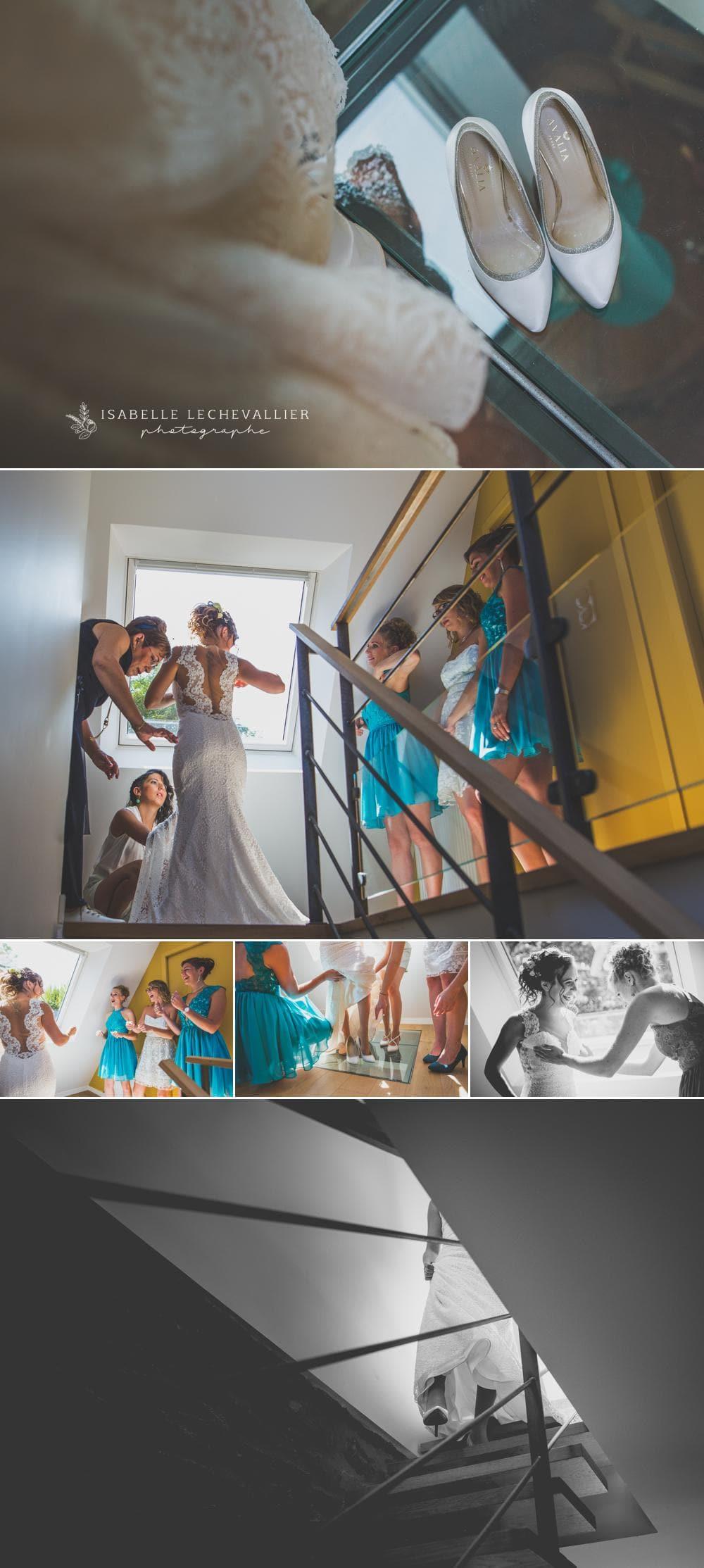 Photos de préparatifs mariage au gîte de La Droulinais