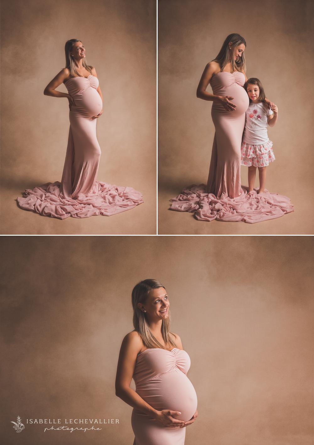 Séance photo grossesse mère/fille
