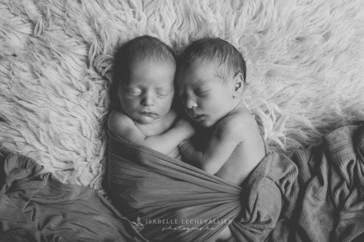 Séance photo naissance jumeaux à Rennes