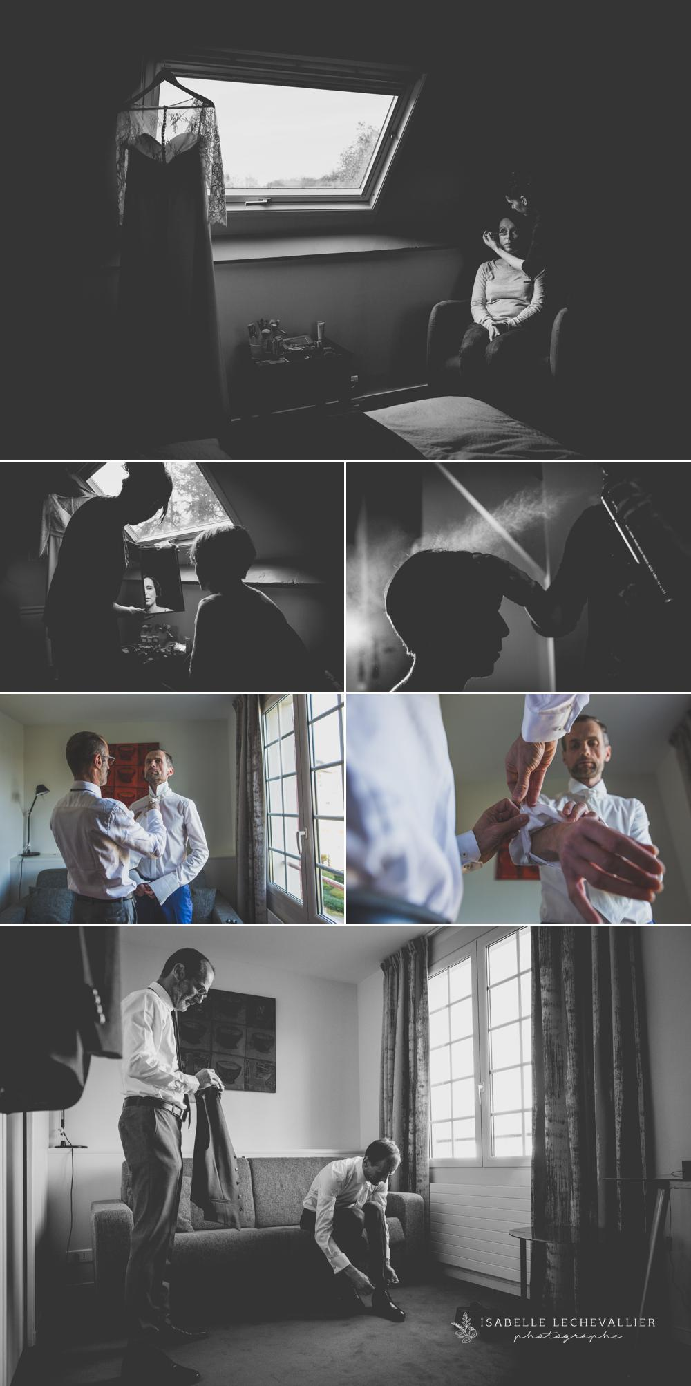 photos de préparatifs de mariage à l'AR Milin