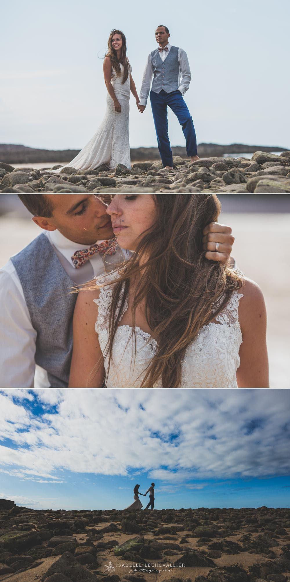 Séance photo après mariage à Erquy