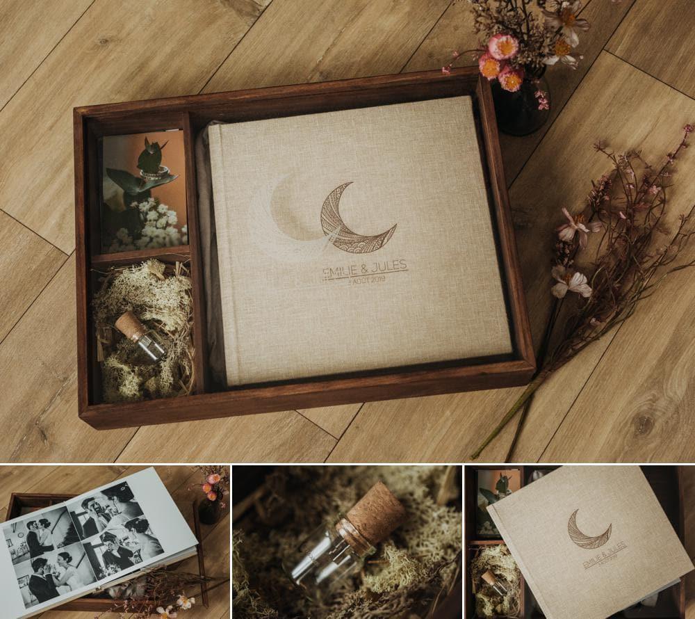 vos souvenirs de mariage dans un livre photo