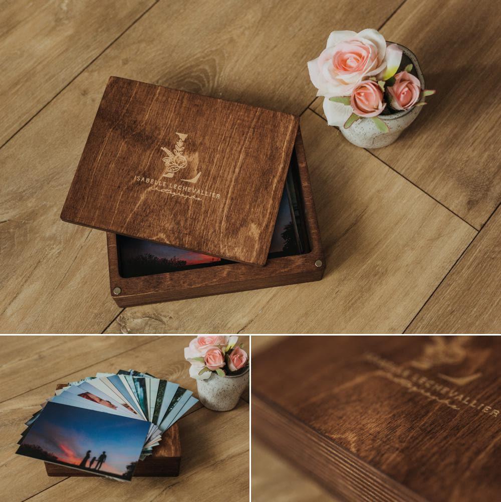 les coffrets de tirages photos en bois