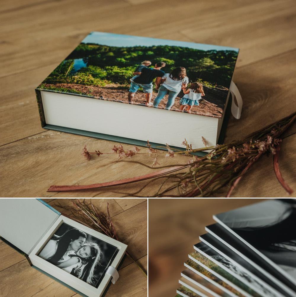 Les coffrets de tirages photos à ouvrir et à exposer