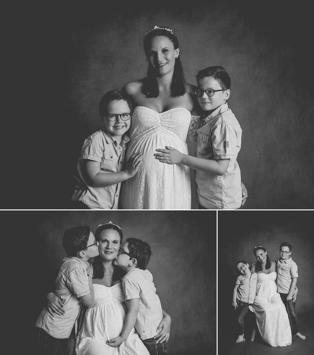 photos de grossesse avec ses enfants