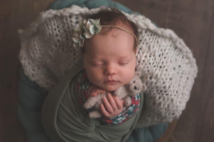 Séance avec votre bébé emmailloté
