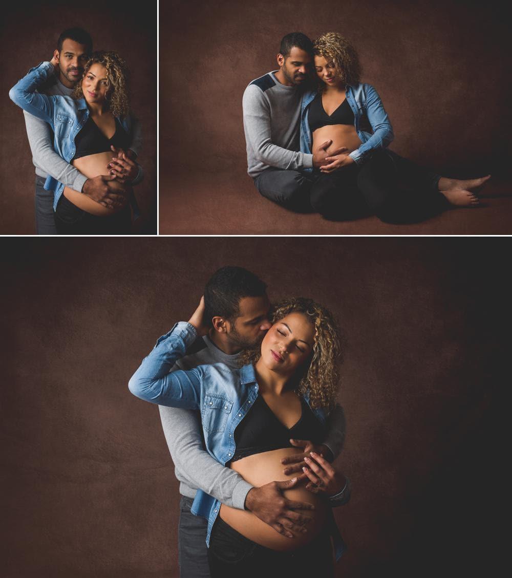 Nue pas nue en séance photo maternité