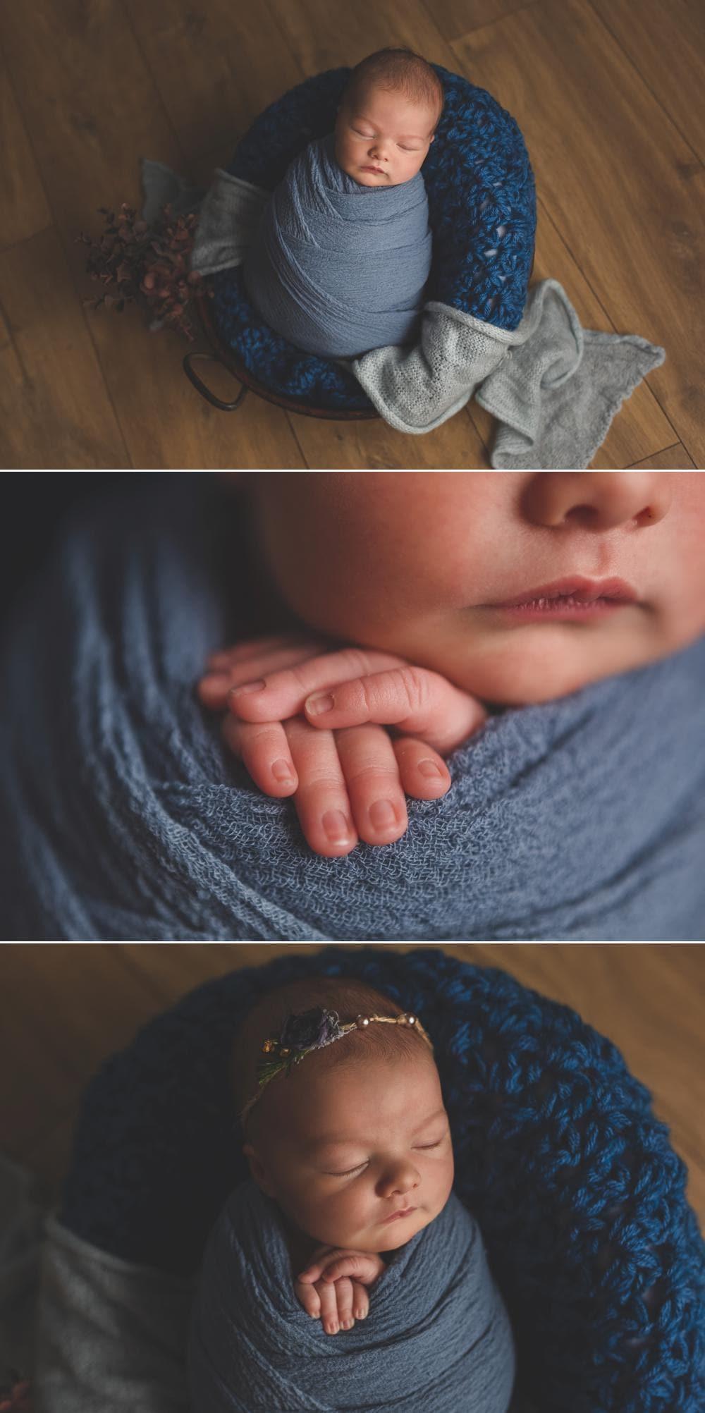 Baby girl en bleu